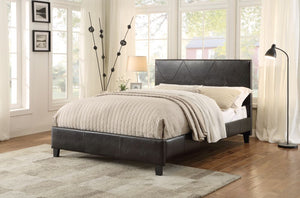 Homelegance 1881PU-1 Deleon Dark Brown Vinyl Wood Queen Platform Bed