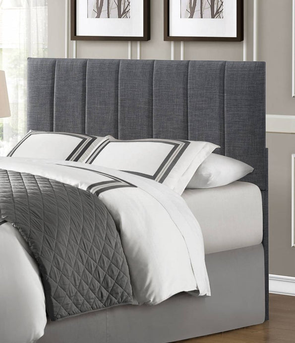 Homelegance 2024-1HB Portrero Gray Fabric Wood Queen Full Headboard