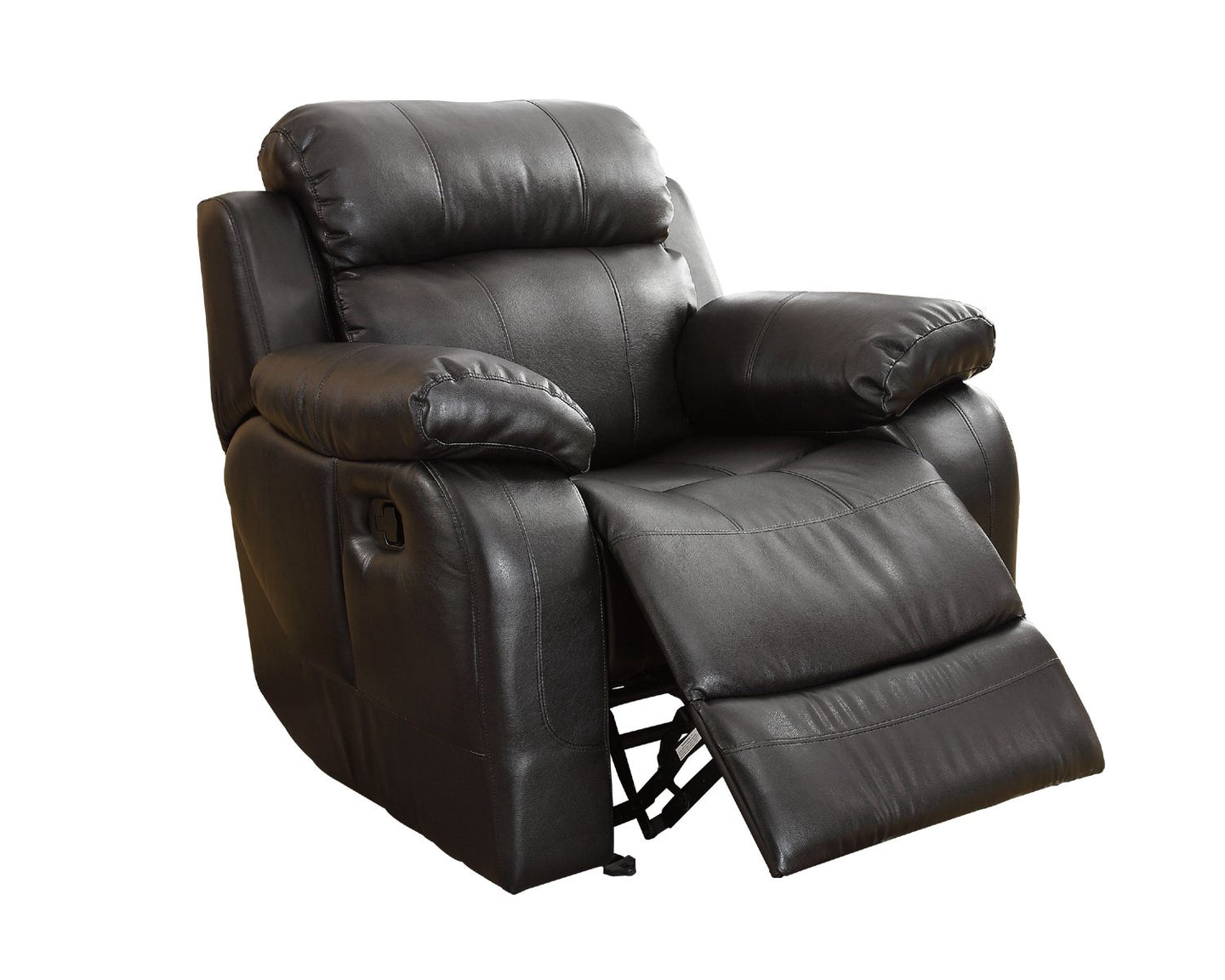 Homelegance 9724BLK-1 Tuft Black Bonded Leather Glider Reclining Chair