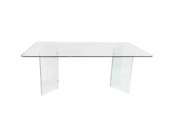 Homelegance Alouette White Glass Top Finish Dining Table