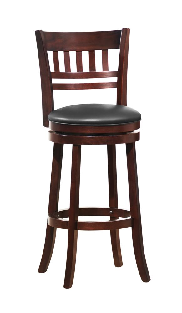 Homelegance Edmond Cherry Swivel Counter Height Chair Stool