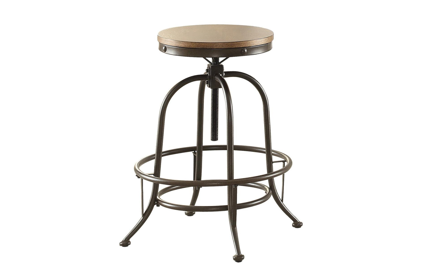 Homelegance Angstrom Brown Metal And Wood Finish 2 Piece Counter Height Bar Stool