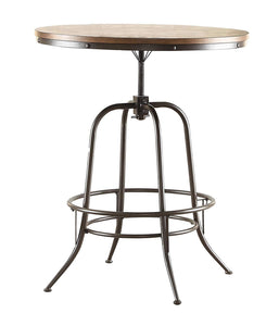 5429-36RD Industrial Metal Round Counter Height Dining Table Adjusted