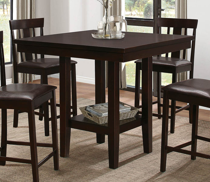 5460-36 Diego Casual Versatile Espresso Counter Height Dining Table