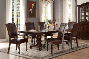 Homelegance Lordsburg Cherry Wood Finish 7 Piece Dining Table Set