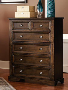 1844DC-9 Eunice Traditional Espresso Wood Chest Tall Dresser