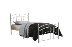 Homelegance Tiana White Metal Finish Twin Bed
