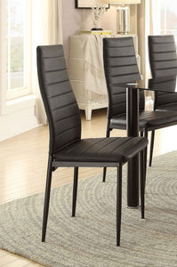 Homelegance Florian Black Metal Finish 2 Piece Dining Chair