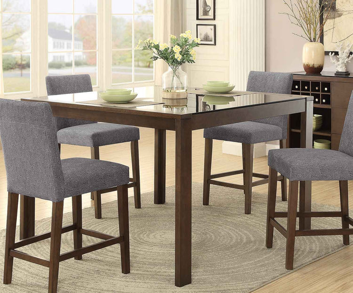 5525-36 Fielding Traditional Brown Wood Counter Height Dining Table