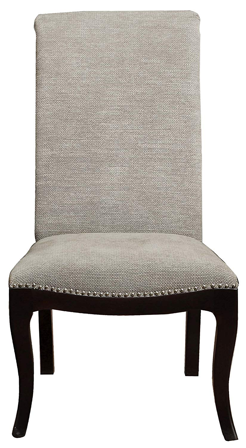 Homelegance Savion Espresso And Natural Polyester Finish 2 Piece Dining Side Chair