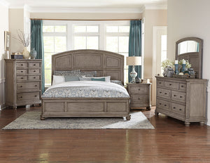 Homelegance Lavonia Gray Wood Finish 4 Piece Queen Bedroom Set