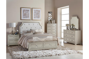 Homelegance Libretto Light Gray Wood Finish 4 Piece Eastern King Bedroom Set