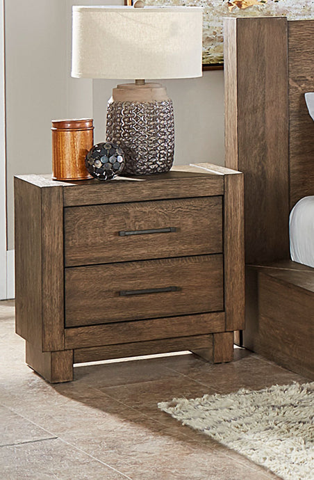 Homelegance Korlan Brown Oak Wood Finish Nightstand