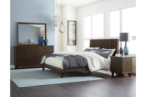 Homelegance Ridgewood Rustic Burnished Oak 4 Piece Queen Platform Bed