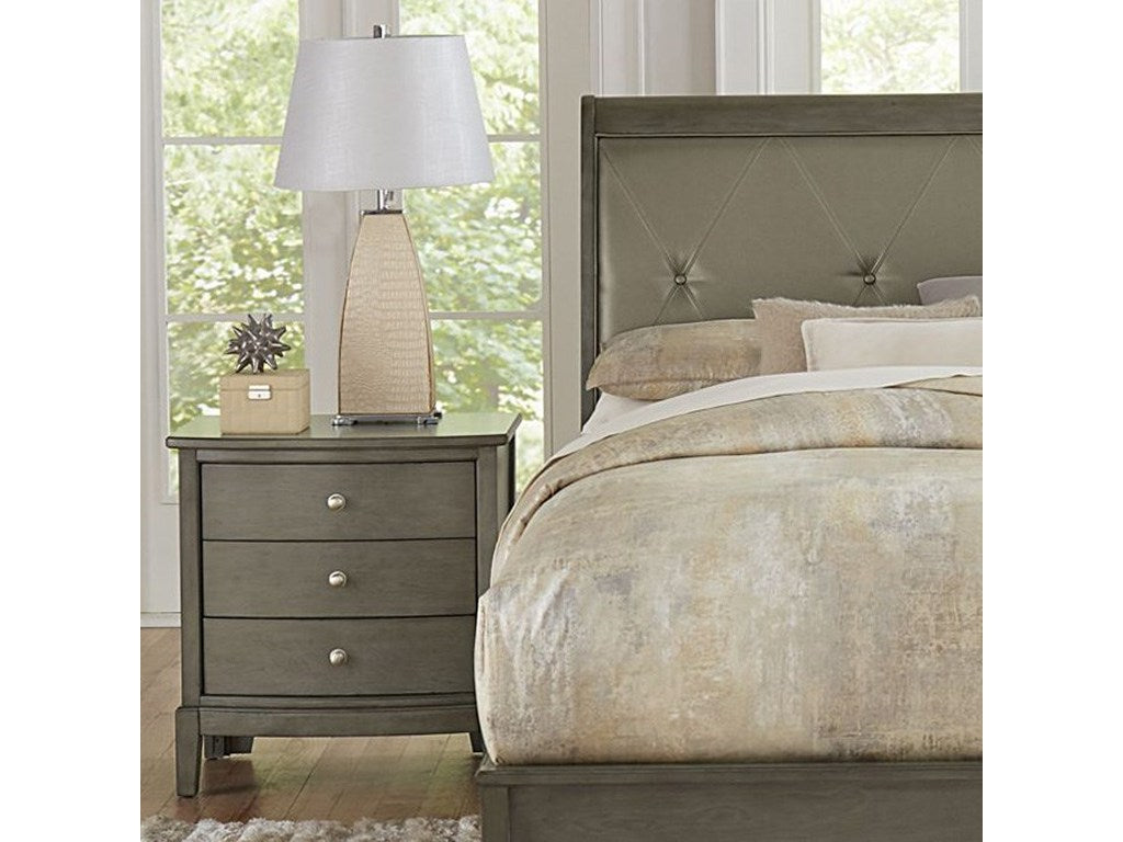 Homelegance Cotterill Gray Wood Finish Nightstand