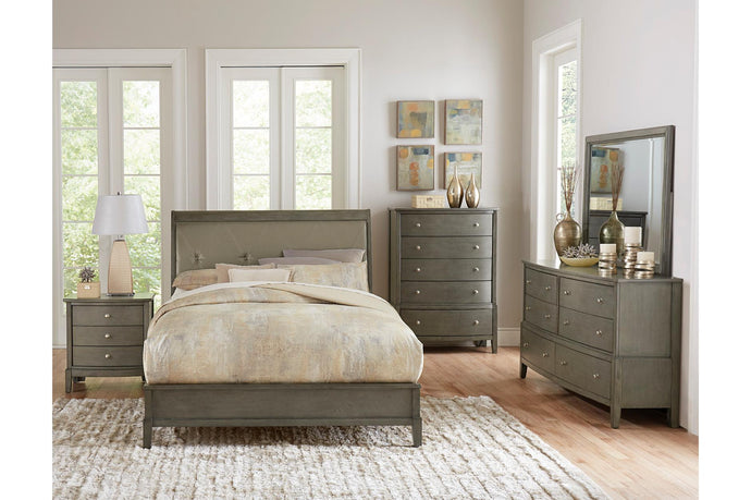 Homelegance Cotterill Gray 4 Pcs Queen Bedroom Set