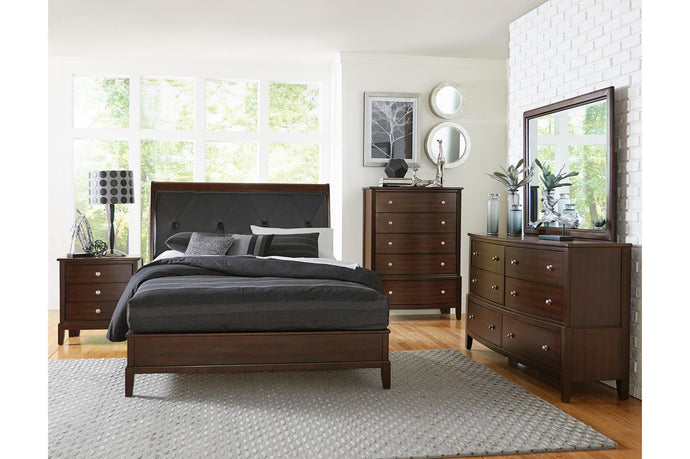 Homelegance Cotterill Cherry 4 Pcs Queen Bedroom Set
