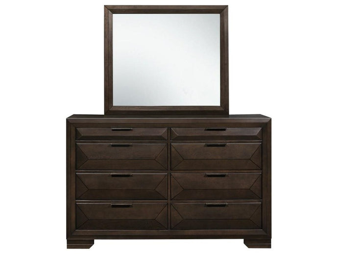 Homelegance Chesky Birch Veneer Finish Dresser and Mirror Set