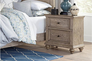 Homelegance Barbour Whitewash Natural Wood Finish Nightstand