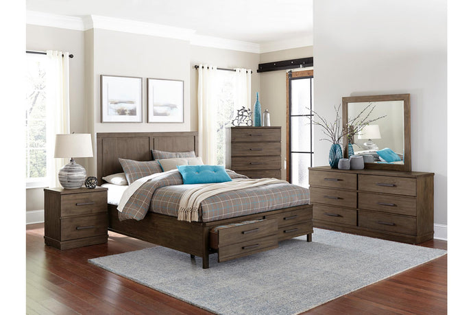 Homelegance Bracco Brown Finish 4 Pcs Queen Platform Bedroom Set
