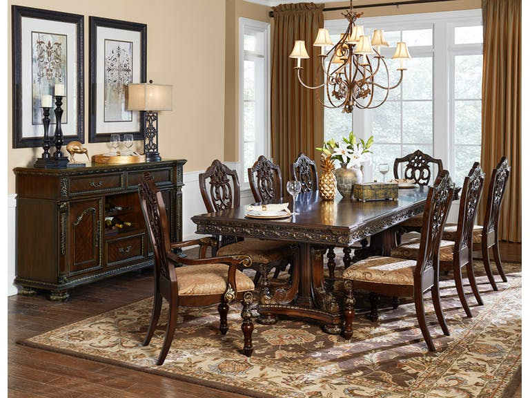 Homelegance 1824-112 Catalonia Cherry Finish Dining Table