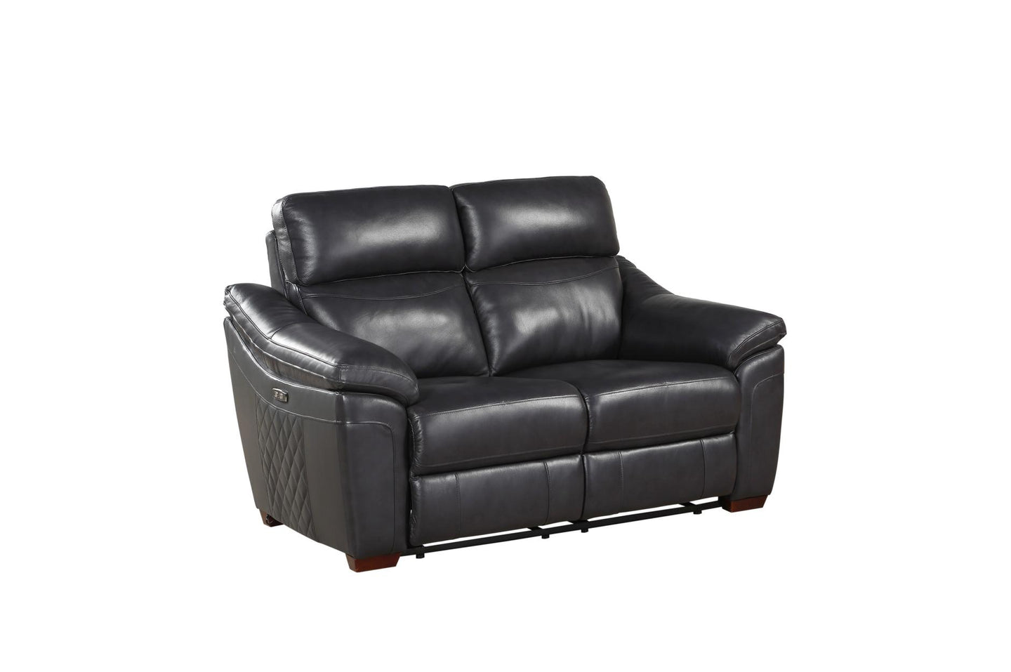 Homelegance Renzo Grey Leather Finish Power Recliner Loveseat
