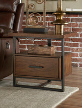 Load image into Gallery viewer, Homelegance Sedly Walnut Wood And Metal Finish End Table