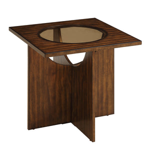 Homelegance Akita Brown Wood Finish End Table