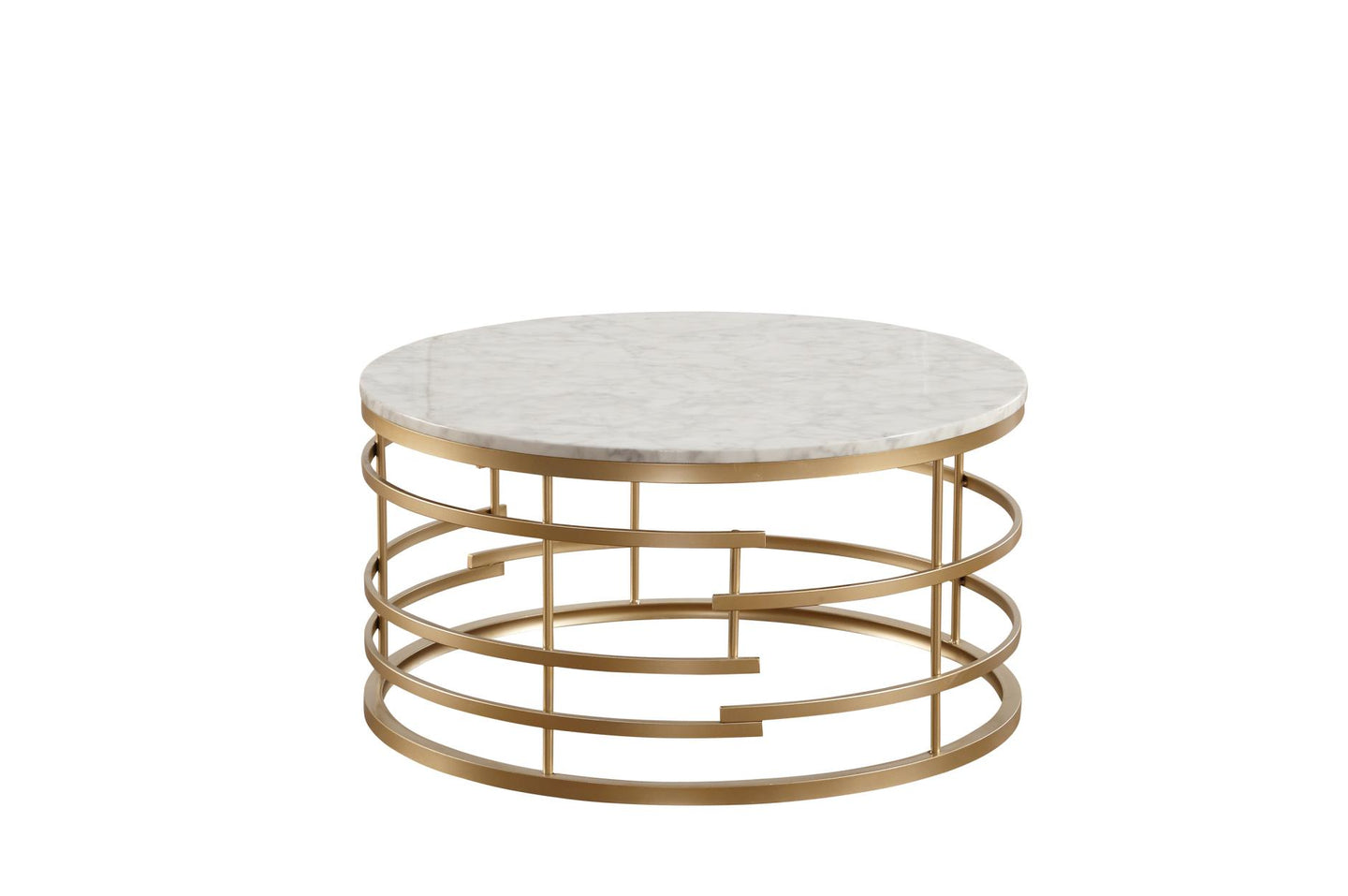 Homelegance Brassica Gold Marble Top Finish Coffee Table