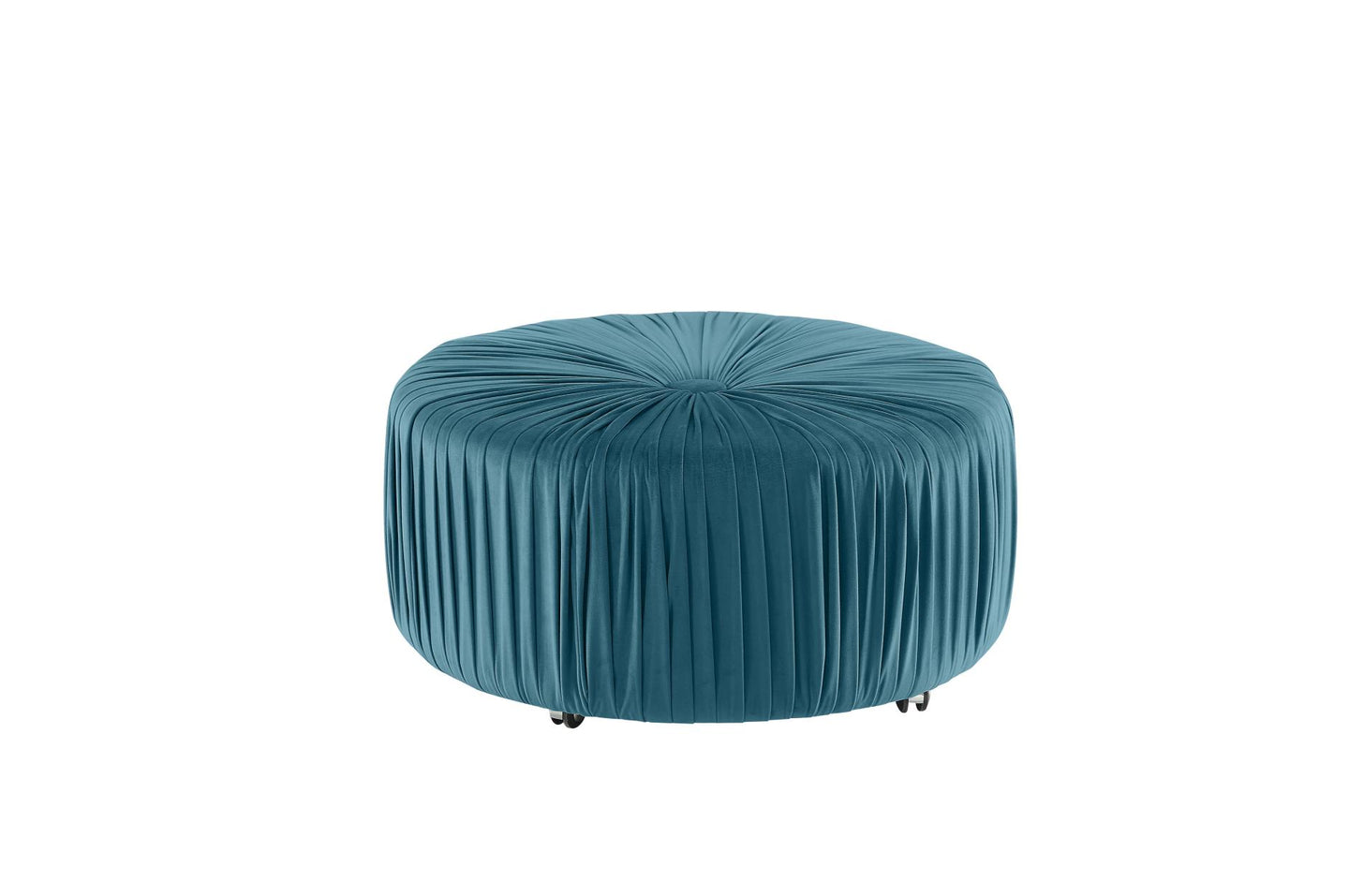 Homelegance Jaunt Blue Fabric Finish Ottoman