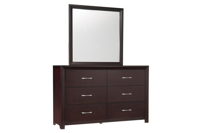 Homelegance 2145-5 Edina Espresso Wood Finish Dresser With Mirror