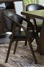 Load image into Gallery viewer, Homelegance Cabezon Dark Brown Wood Finish 2 Piece Dining Arm Chair