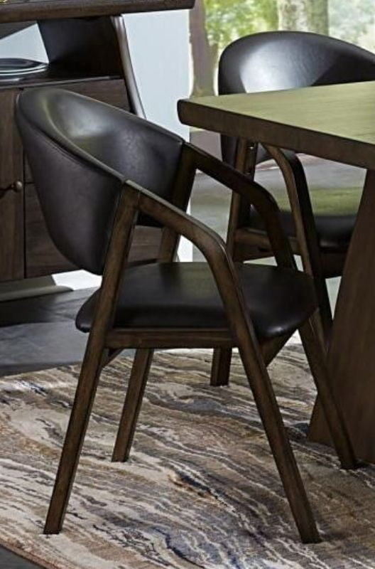 Homelegance Cabezon Dark Brown Wood Finish 2 Piece Dining Arm Chair