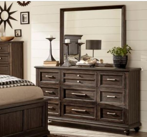 Homelegance Cardano Brown Wood Finish Dresser With Mirror
