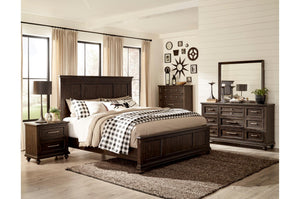 Homelegance Cardano Brown Wood Finish 4 Piece Eastern King Bedroom Set
