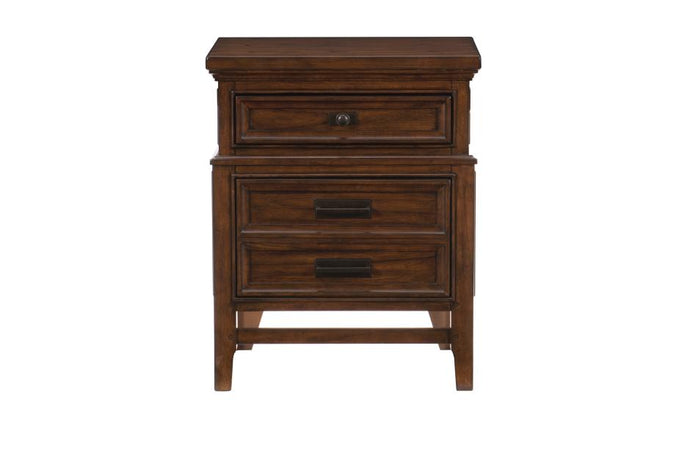 Homelegance Frazier Park Brown Wood Finish Nightstand