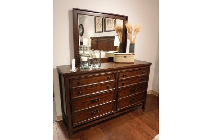 Homelegance Frazier Park Brown Wood Finish Dresser With Mirror