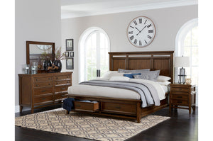 Homelegance Frazier Park Brown Wood Finish 4 Piece Queen Bedroom Set