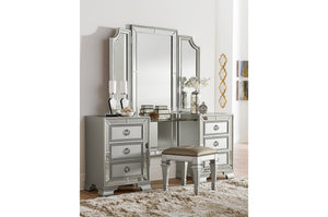 Homelegance Avondale Silver Wood Finish 3 Piece Vanity Set