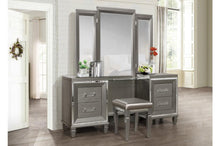 Load image into Gallery viewer, Homelegance Tamsin Silver Wood Finish 3 Piece Vanity Desk Set