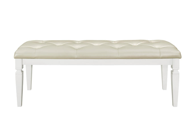 Homelegance Allura White Wood Finish Bedroom Bench