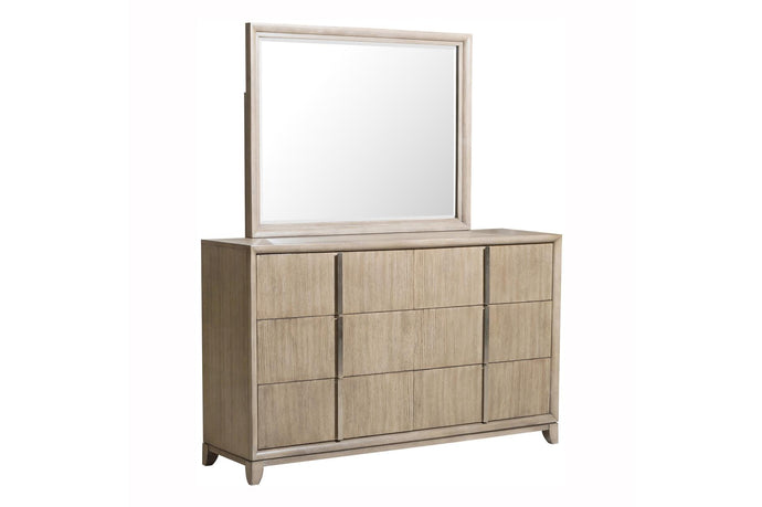 Homelegance Mckewen Oak Wood Finish Dresser With Mirror