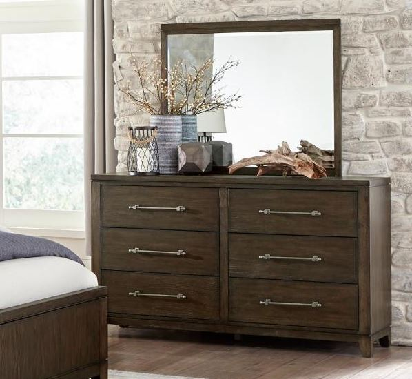 Homelegance Griggs Gray Wood Finish Dresser With Mirror