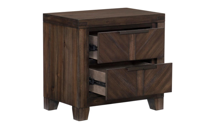 Homelegance Parnell Cherry Wood Finish Nightstand