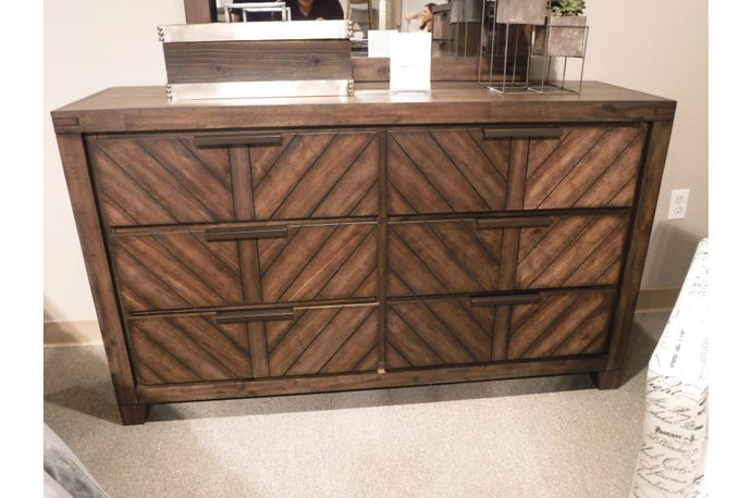 Homelegance Parnell Cherry Wood Finish Dresser