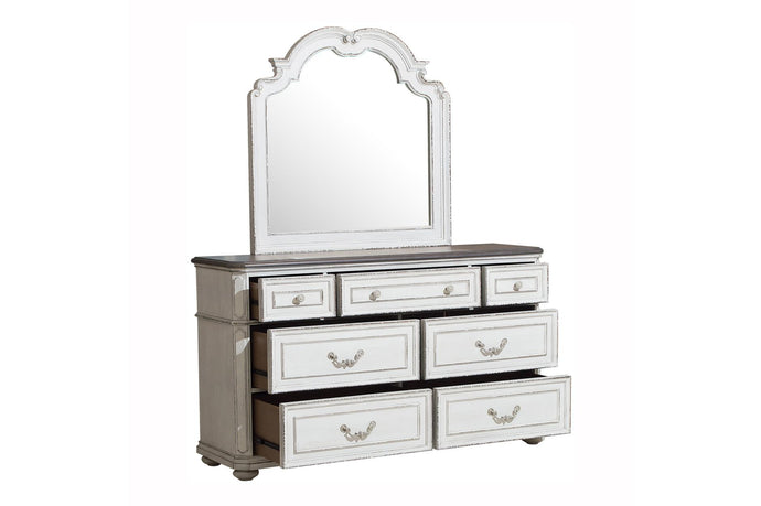 Homelegance Willowick White Wood Finish Dresser With Mirror