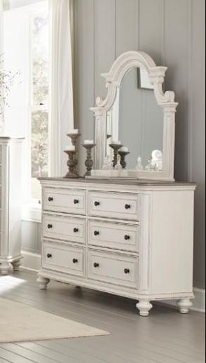 Homelegance Baylesford Gray Wood Finish Dresser With Mirror