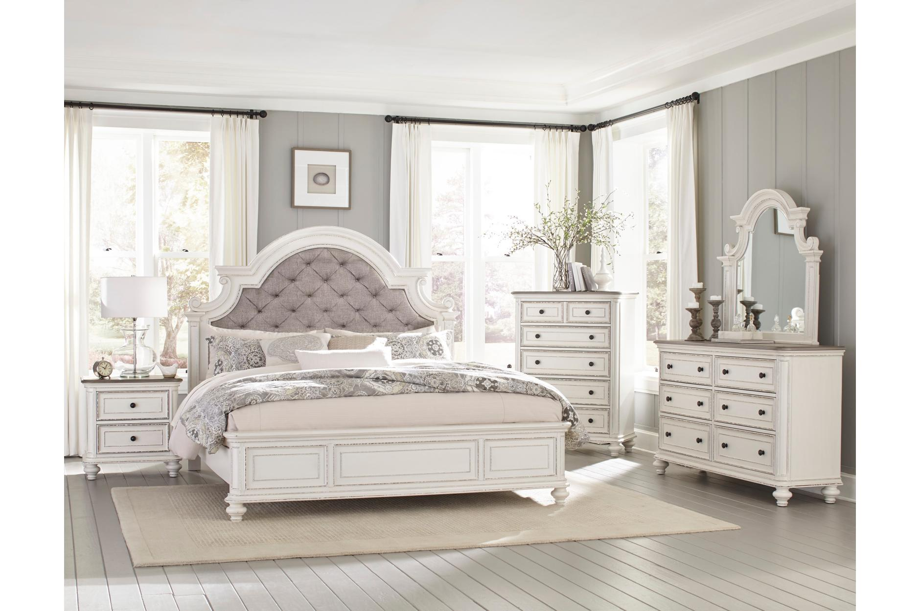 Homelegance Baylesford Gray Wood Finish 4 Piece Queen Bedroom Set