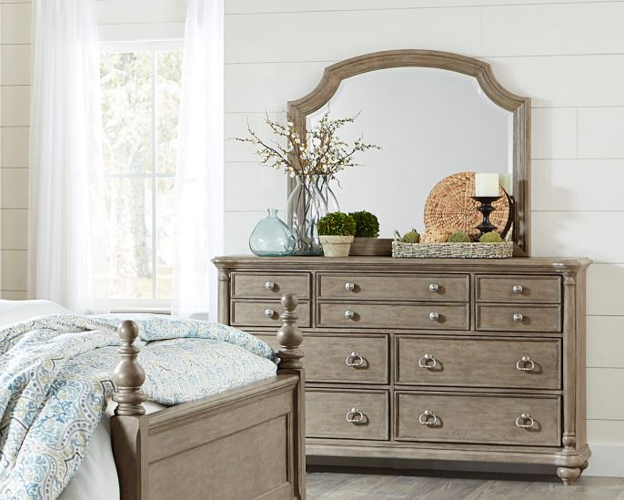Homelegance Grayling Downs Gray Wood Finish Dresser With Mirror
