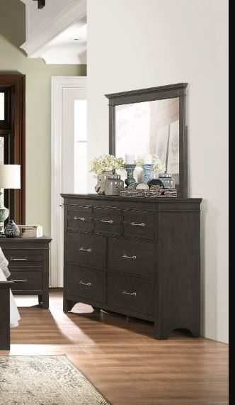 Homelegance Blaire Farm Espresso Wood Finish Dresser With Mirror